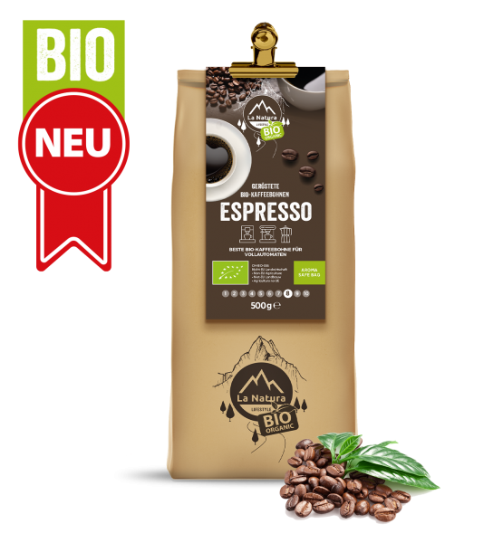 Espresso BIO Bohnen Kaffee 500g La Natura Lifestyle