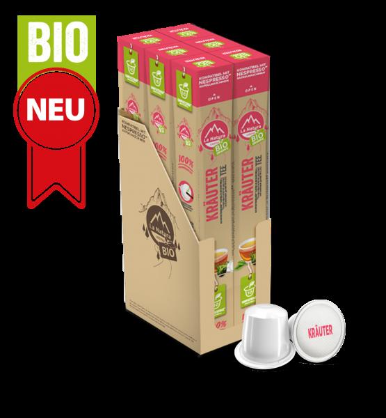 Kräuter BIO Tee - 60 Kapseln La Natura Lifestyle BAG