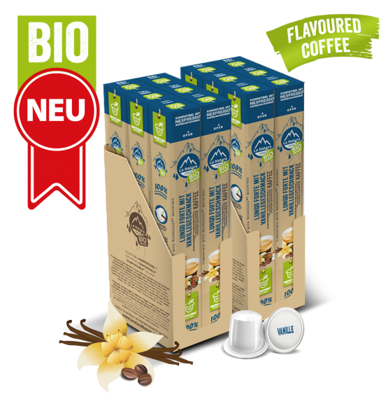 Lungo Forte BIO Kaffee Vanille Natural Flavor - 120 Kapsel La Natura Lifestyle BAG