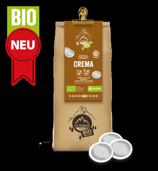 Crema BIO Kaffee 20 Pads La Natura Lifestyle