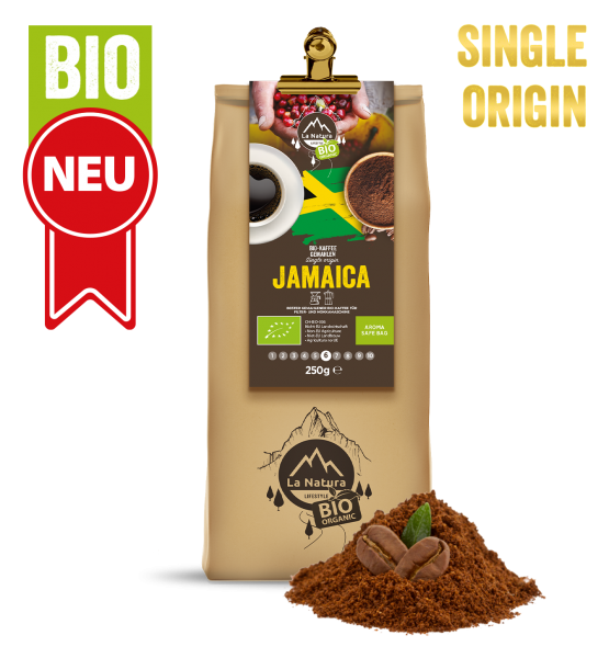 Jamaica BIO Plantagen Single Origin Kaffee gemahlen 250g La Natura Lifestyle