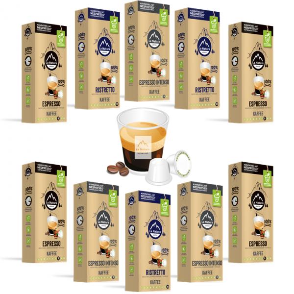 La Natura Lifestyle Espresso Set - 100 Kapseln