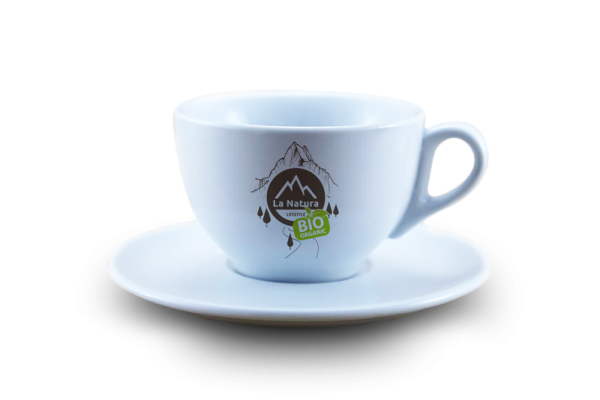 Cappuccino Tasse 2 Teilig Porzellan 1 Tasse + 1 Untersetzer La Natura Lifestyle 210 ml