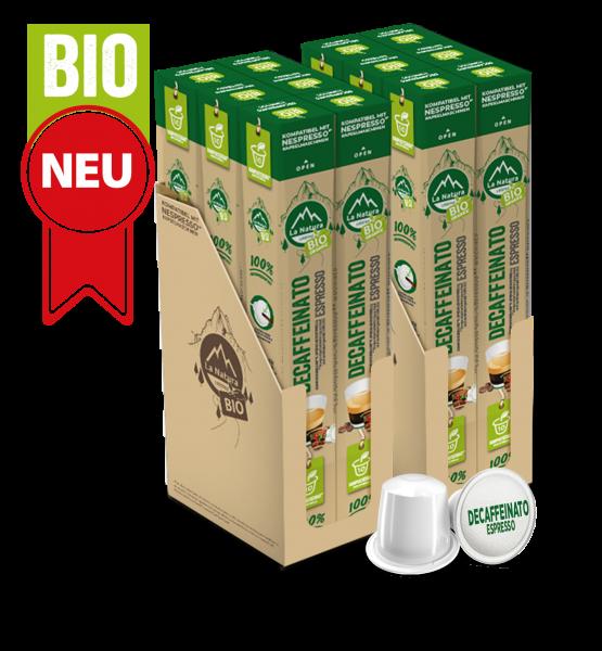 Decaffeinato Espresso BIO Kaffee - 120 Kapseln La Natura Lifestyle BAG