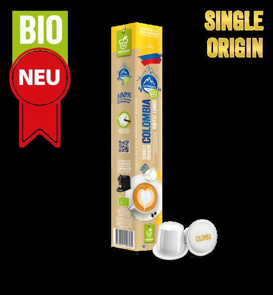 Colombia Plantagen Single Origin BIO Kaffee - 10 Kapseln La Natura Lifestyle