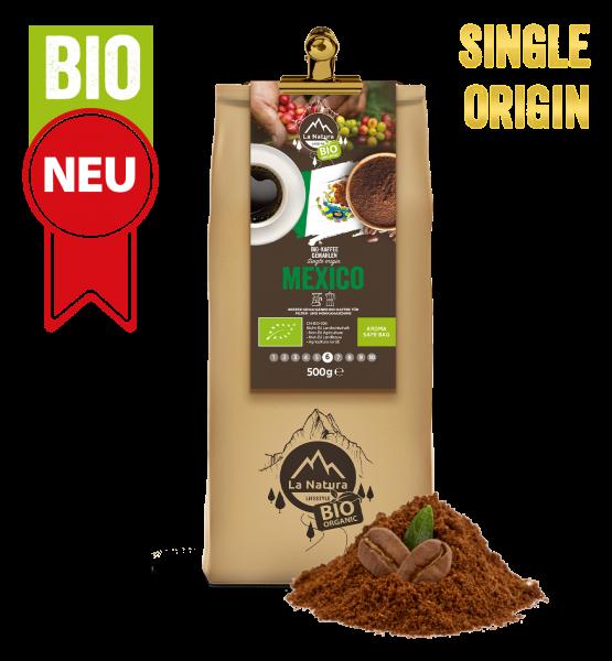 Mexico BIO Plantagen Single Origin Kaffee gemahlen 500g La Natura Lifestyle