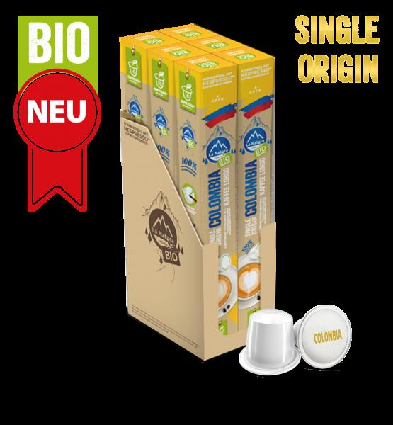 Colombia Plantagen Single Origin BIO Kaffee - 60 Kapseln La Natura Lifestyle-Copy