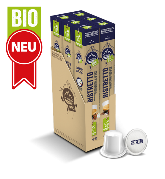 Ristretto BIO Kaffee - 60 Kapseln La Natura Lifestyle BAG
