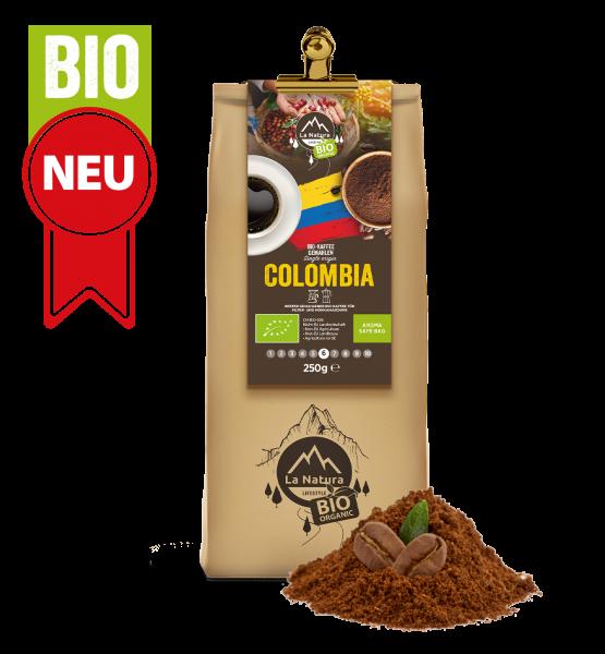 Colombia Bio plantážní káva Single Origin mletá 250g La Natura Lifestyle