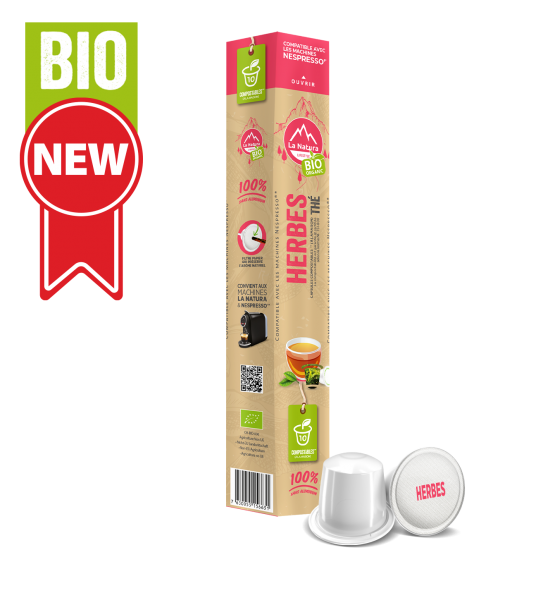 Thé BIO aux Herbes - 10 capsules La Natura Lifestyle
