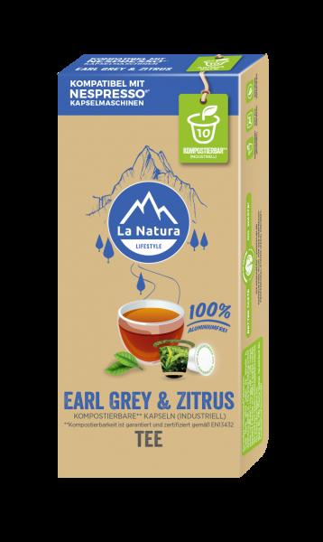 Earl Grey & Zitrus Tee - 10 Kapseln La Natura Lifestyle CRS