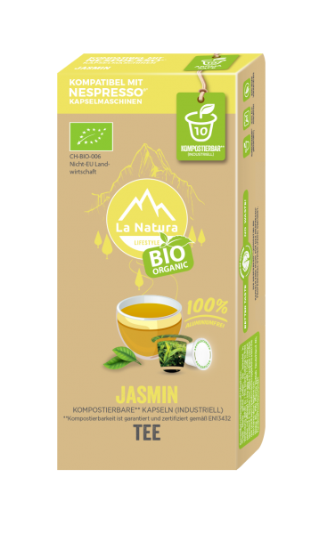 Jasmin BIO Tee - 10 Kapseln La Natura Lifestyle