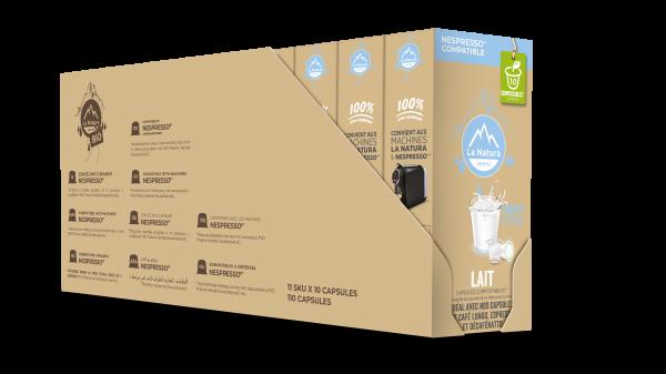 Lait 3,5% - 110 capsules Multipack La Natura Lifestyle