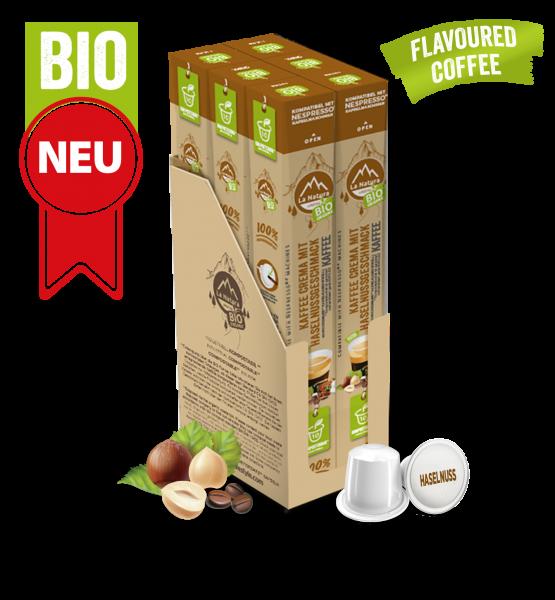 Crema BIO káva s přírodní příchutí lískových oříšků La Natura Lifestyle - 60 kapslí