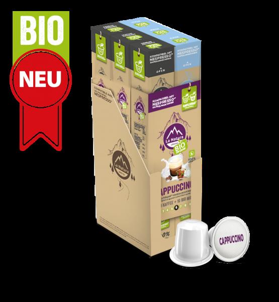 Cappuccino BIO Kaffee - Milch - 60 Kapseln La Natura Lifestyle BAG