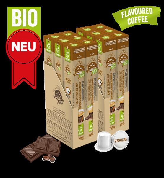 Crema BIO káva s přírodní čokoládovou příchutí La Natura Lifestyle - 120 kapslí