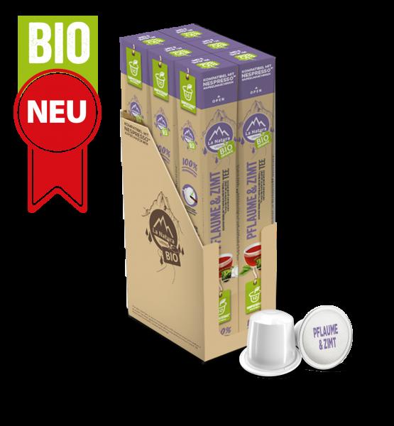 Skořicový švestkový bio čaj - 60 kapslí La Natura Lifestyle