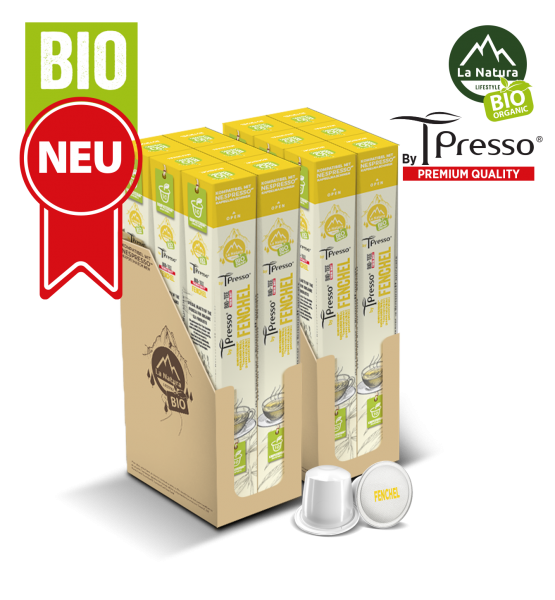 Fenchel BIO Tee - 120 Kapseln La Natura Lifestyle by Tpresso BAG