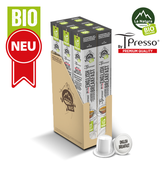 English Breakfast BIO Tee - 60 Kapseln La Natura Lifestyle by Tpresso BAG