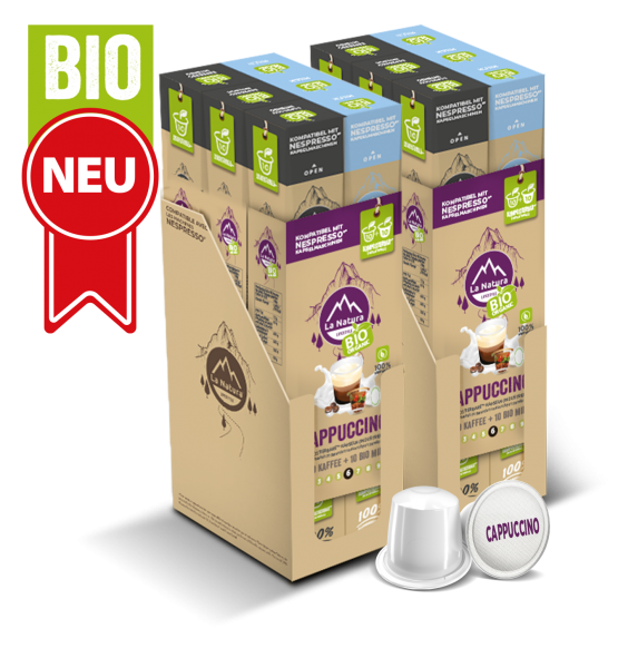 Cappuccino BIO Kaffee - Milch - 120 Kapseln La Natura Lifestyle BAG