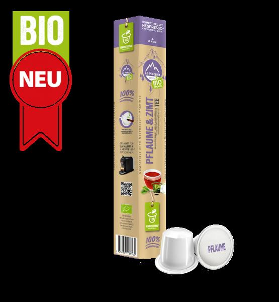 Pflaume Zimt BIO Tee - 10 Kapseln La Natura Lifestyle BAG