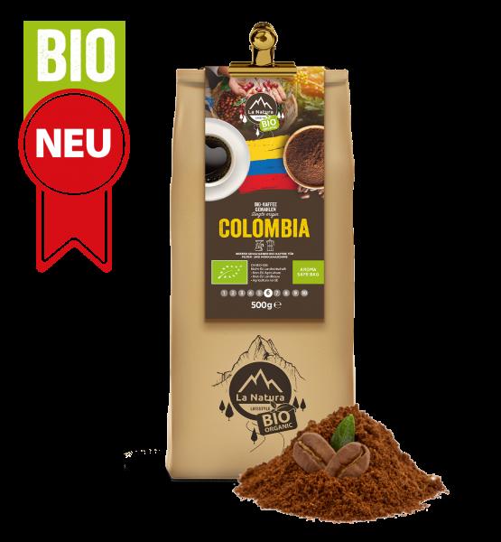 Colombia BIO Plantagen Single Origin Kaffee gemahlen 500g La Natura Lifestyle