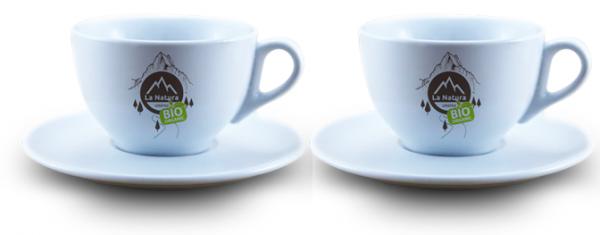 Cappuccino porcelánový šálek s podšálkem 2 ks. La Natura Lifestyle 210 ml