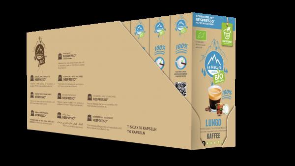 Lungo BIO Kaffee - 100er Multipack La Natura Lifestyle CRS
