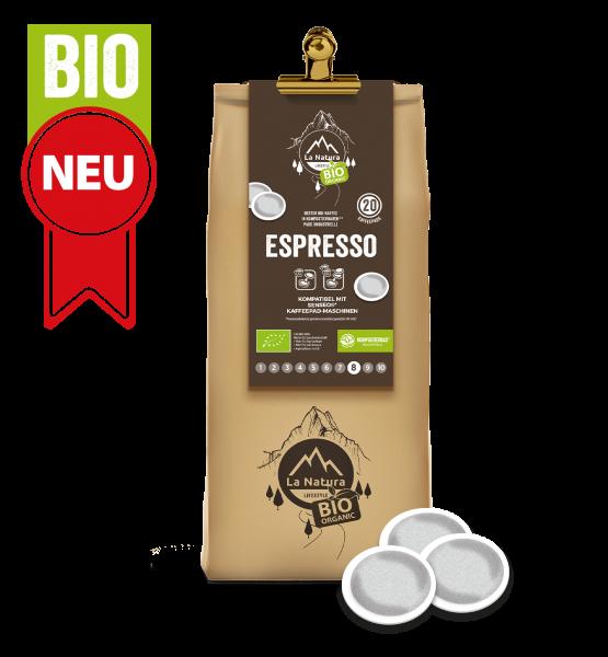 Espresso BIO Kaffee 20 Pads La Natura Lifestyle