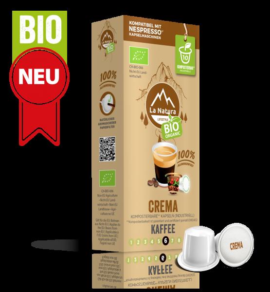 Crema BIO Kaffee - 10 Kapseln La Natura Lifestyle