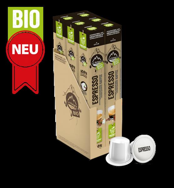 Espresso BIO Kaffee - 60 Kapseln La Natura Lifestyle BAG