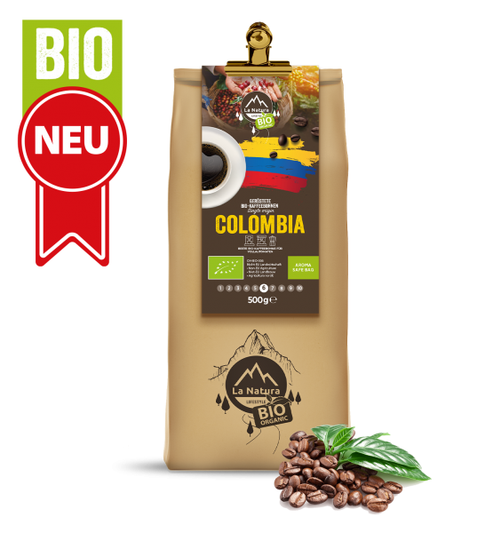Colombia Single Origin BIO zrnková káva 1000g La Natura Lifestyle