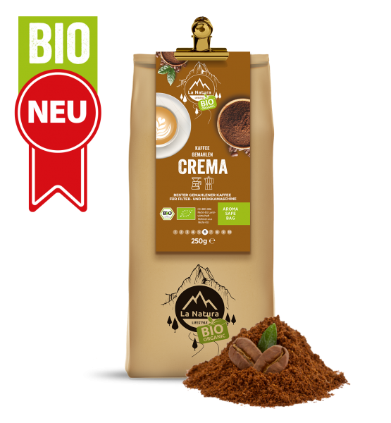 Milder Crema BIO Kaffee 250g La Natura Lifestyle