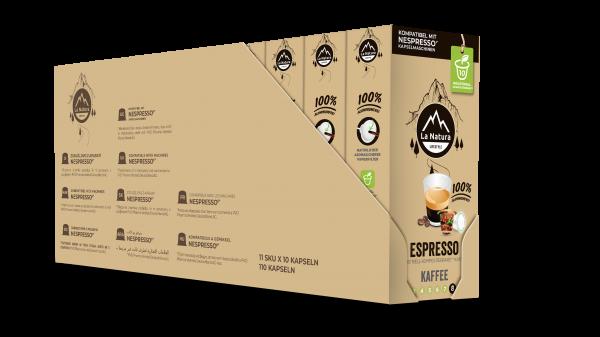 Espresso - 100er Multipack La Natura Lifestyle CRS