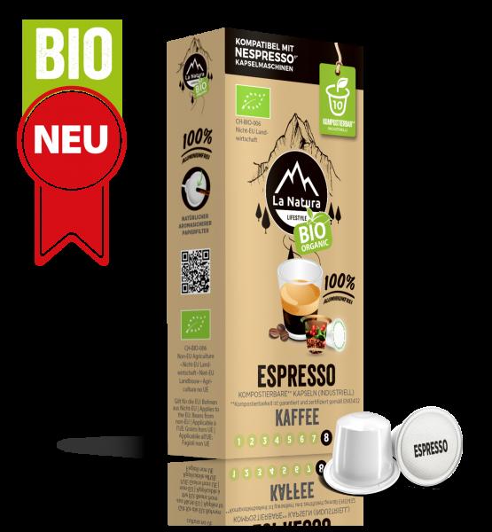 Espresso BIO Kaffee - 10 Kapseln La Natura Lifestyle