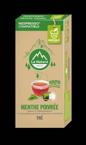 Thé Menthe Poivrée - 10 capsules La Natura Lifestyle