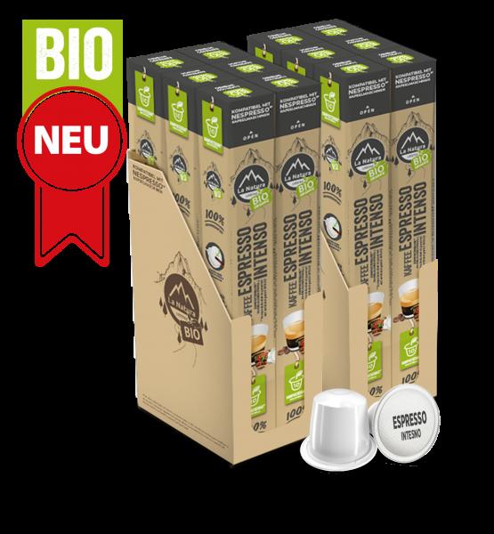 Espresso Intenso BIO Kaffee - 120 Kaffeekapseln La Natura Lifestyle BAG