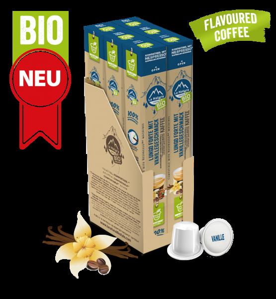 Lungo Forte BIO Kaffee Vanille Natural Flavor - 60 Kapsel La Natura Lifestyle BAG