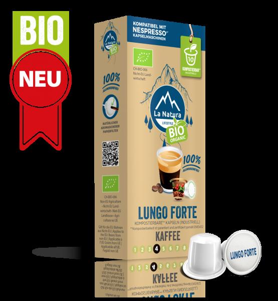 Lungo Forte BIO Kaffee - 10 Kapseln La Natura Lifestyle