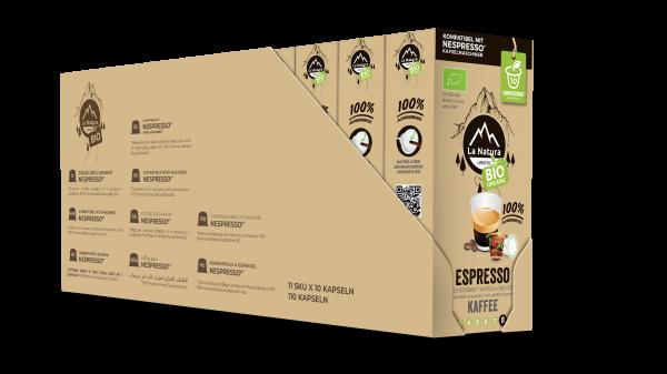 Espresso BIO Kaffee - 100er Multipack La Natura Lifestyle CRS