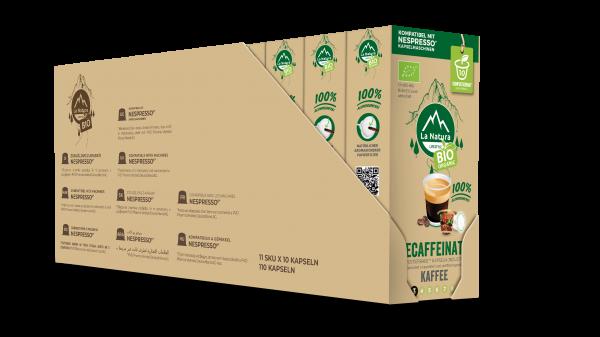 Decaffeinato BIO Kaffee - 100er Multipack La Natura Lifestyle CRS