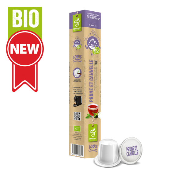 Thé BIO Prune et Cannelle - 10 capsules La Natura Lifestyle