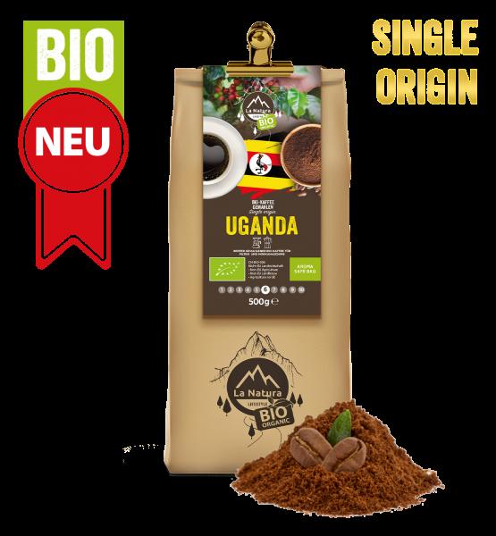 Uganda BIO Plantagen Single Origin Kaffee gemahlen 500g La Natura Lifestyle