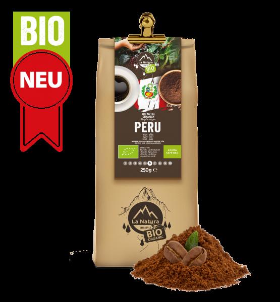 Peru BIO Plantagen Single Origin Kaffee gemahlen 250g La Natura Lifestyle