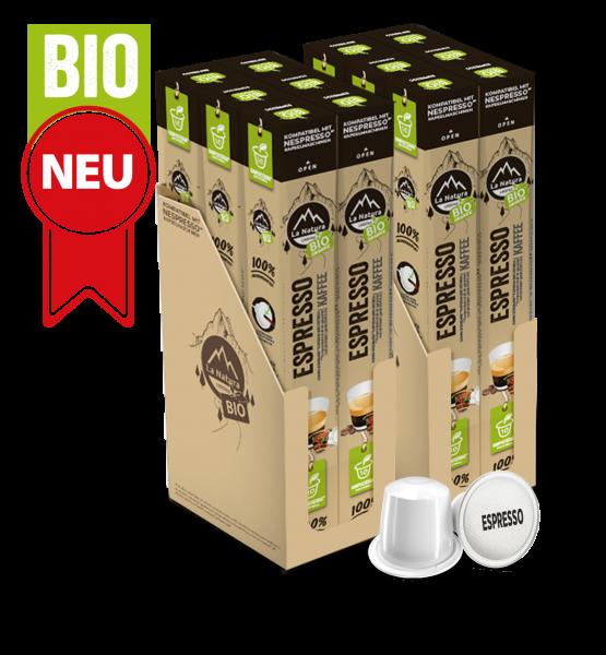 Espresso BIO Kaffee - 120 Kapseln La Natura Lifestyle BAG