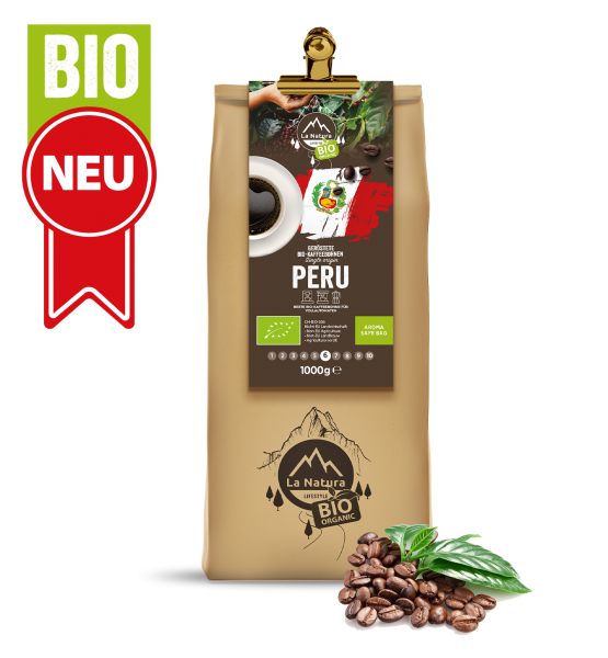 Peru Single Origin BIO zrnková káva 1000g La Natura Lifestyle