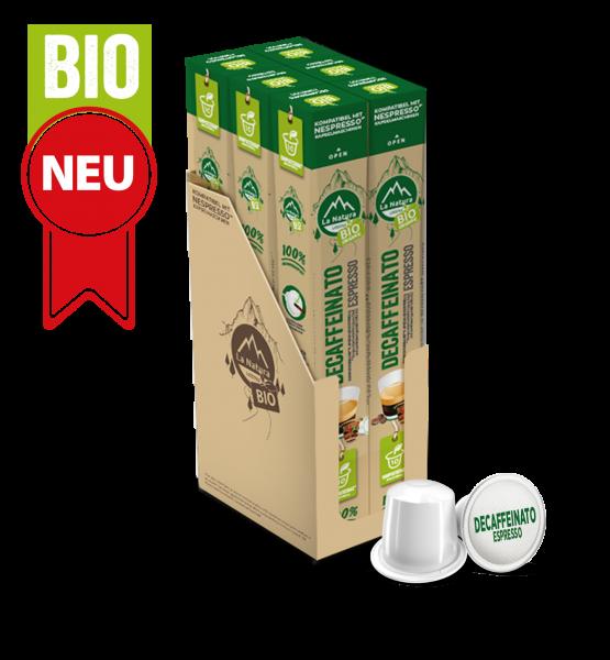 Decaffeinato Espresso BIO Kaffee - 60 Kapseln La Natura Lifestyle BAG