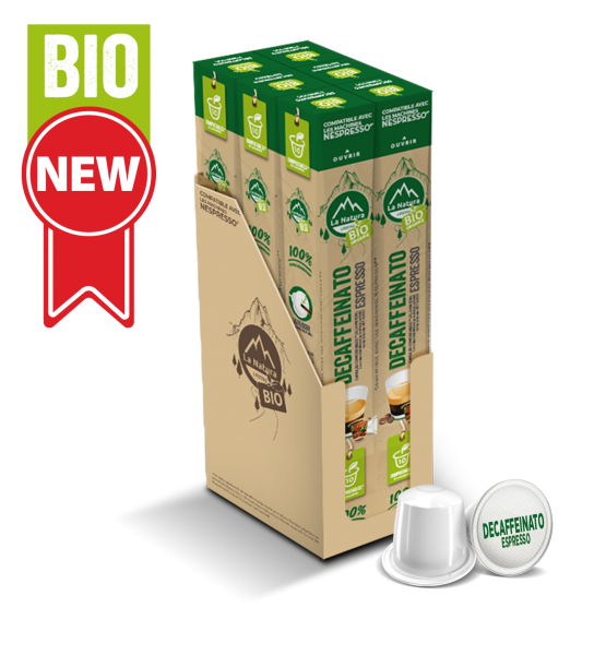 Café BIO Decaffeinato Espresso - 60 capsules La Natura Lifestyle
