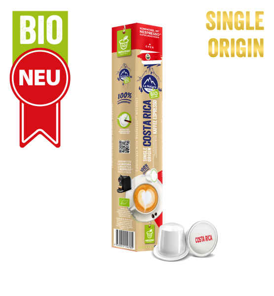 Costa Rica Plantagen Single Origin BIO Kaffee - 10 Kapseln La Natura Lifestyle