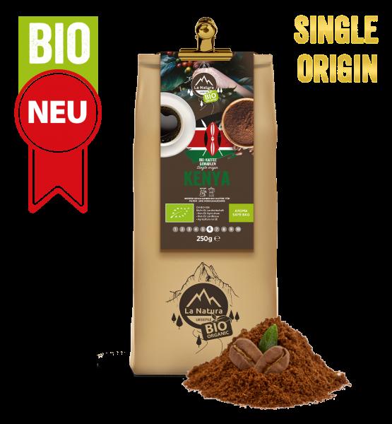 Kenya BIO Plantagen Single Origin Kaffee gemahlen 250g La Natura Lifestyle